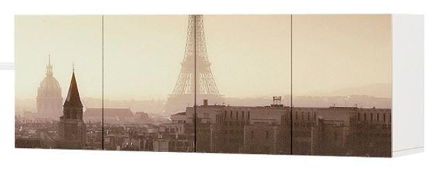 Шкаф навесной Париж (2 модуля)