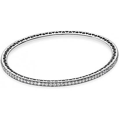 Серебряный жесткий браслет «Вечность» в стиле пандора
