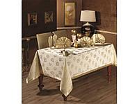 Скатерть Arya Cetin Monalit с салфетками и кольцами 8 шт. 160Х220