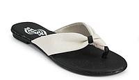 Женские шлепанцы Белста черно-белые