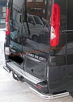 Защита заднего бампера уголки одинарные D60 на  Renault Trafic 2002-2013