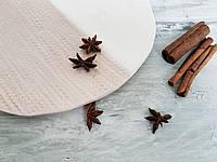 Тарелка Ohaina ручной работы косы 25см керамика цвет какао и пломбир