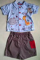 Костюм для новорожденного: рубашка и шортики