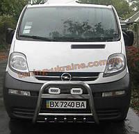 Защита переднего бампера кенгурятник высокий без надписи (нерж.) D60 на  Renault Trafic 2002-2013