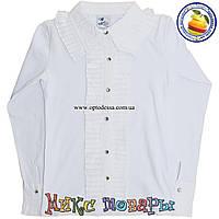 Белая Школьная блузка для девочек от 8 до 14 лет (4497)