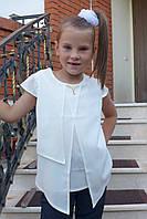 """Блузка для девочки """"Мотылек""""(молоко), фото 1"""