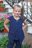 """Блузка для девочки """"Мотылек""""(синяя), фото 1"""