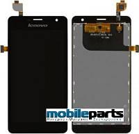 Оригинальный  дисплей (модуль) + сенсор (тачскрин) для Lenovo K860 (черный)