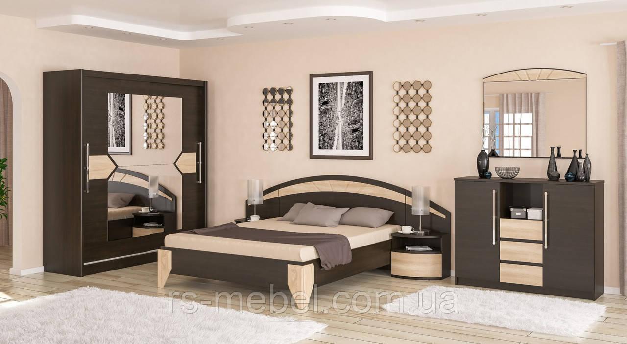 """Модульна спальня """"Аляска"""", венге (Мебель-Сервис)"""