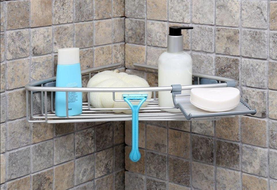 Полка для ванной 25x25 см, алюминий