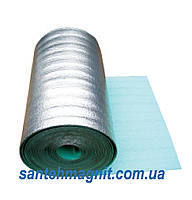 Полотно ппэ 5  мм х 1м х 50м ламинированное металлизированное одностороннее Теплоизол подложка под теплый пол, стяжку, гипсокартон