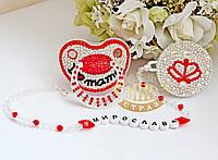 "Пустышка BiBi ""I love mama""+держатель"