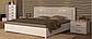 Белла кровать 160 профиль с мягкой спинкой и каркасом Миро Марк, фото 10