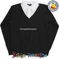 Батник с Рубашкой Обманка черного цвета бренд Гучи Размеры: 140,146,152,164 см (4514)