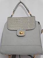 Сумка-рюкзак мини серый, фото 1