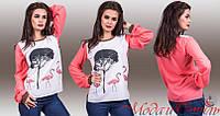 Блузка Фламинго объемный длинный рукав 391 (02)