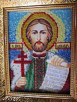 Икона бисером Святой князь Александр