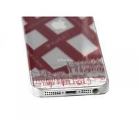 Чехол накладка iPhone SE 5 5s бампер панель USAMS soft case city series красный