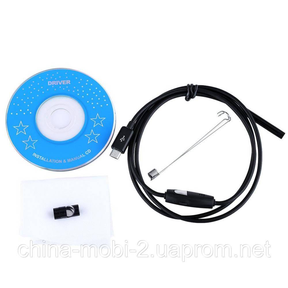 Технический эндоскоп, micro USB-камера бороскоп, водонепроницаемая для ПК и Android, 1м new