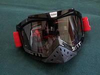 Очки Tanked для мотокросса с защитой носа без дополнительных срывков