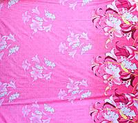 Бязь Голд Цветы на Розовом Полотне