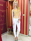 Женские брюки белые галифе Италия , фото 2