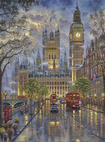 Картина по номерам «Идейка» (КНО1151) Лондон. Вестминстерский дворец (Роберт Финале), 40x50 см, фото 2