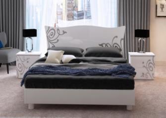 """Кровать двуспальная """"Богема"""" 160 с каркасом  MiroMark"""