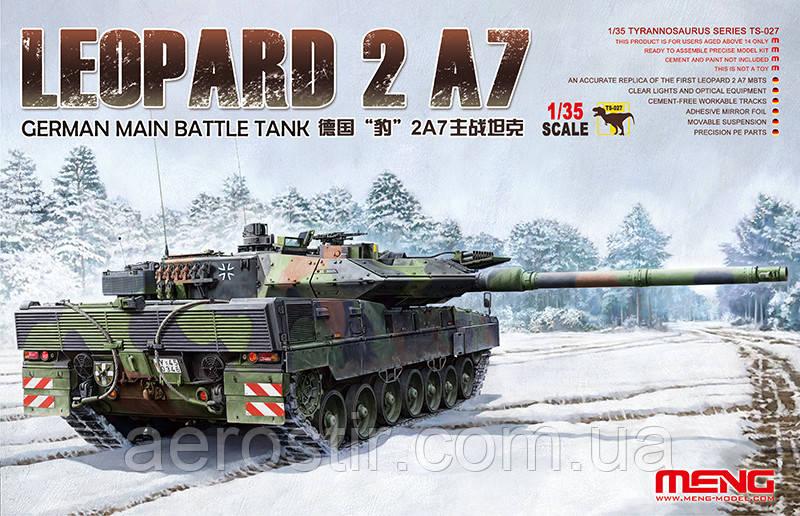 Танк LEOPARD 2A7 1/35 MENG TS 027