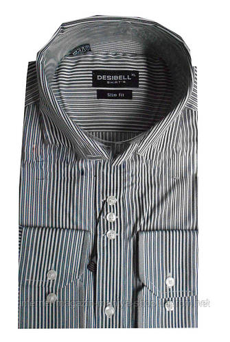 Рубашка мужская приталенная