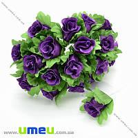 Роза тканевая, 15 мм, Фиолетовая, 1 шт (DIF-016889)