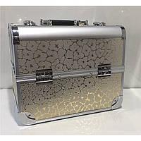 Кейс для косметики профессиональный золотой, фото 1