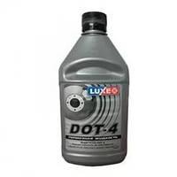 Жидкость торм. DOT-4 LUXЕ 438г сереб.кан