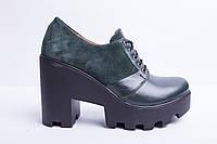 Туфли из натуральной  кожи и замши №356-3, фото 1