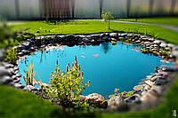 Декоративный пруд в саду