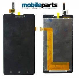 Оригинальный дисплей (модуль) + сенсор (тачскрин) для Lenovo P780 Sinaptics (Черный)