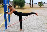 Резиновая петля для тренировок (сопротивление 16-39 кг)