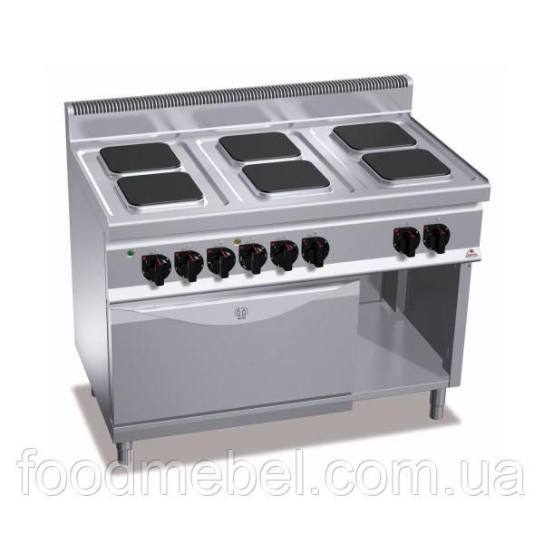 Плита электрическая Bertos E7PQ6+FE шестиконфорочная с духовкой