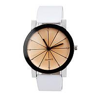 """Часы женские кварцевые наручные """"Azimut"""", белый+чёрный"""