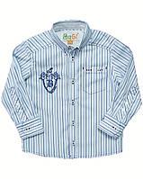 Рубашка для мальчика в сине голубую полоску, BOGI (Божи), фото 1