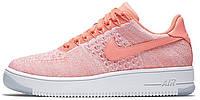 Женские кроссовки Nike Air Force 1 Ultra Flyknit (найк аир форс низкие) коралловые