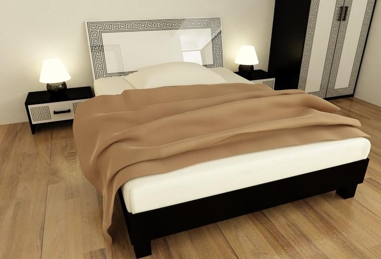 Кровать двуспальная Виола 160 с каркасом MiroMark