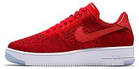Женские кроссовки Nike Air Force 1 Ultra Flyknit (найк аир форс низкие) красные