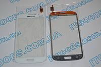 Тачскрин / сенсор (сенсорное стекло) для Samsung Galaxy Grand Duos i9082 (белый цвет, самоклейка)