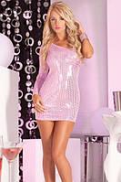 Pink Lipstick - Платье Glitterati sequin dress pink M/L