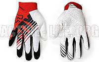 Мотоперчатки ,кроссовые, вело рукавиці, закрытые FOХ AIRLINE (р-р M-XL) (красный-черный-белый)