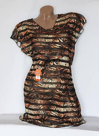 Модная красивая пляжная туника с леопардовым принтом, фото 2