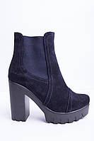 Ботинки из натуральной синей замши №314-5, фото 1