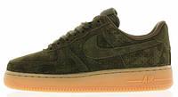 Мужские кроссовки Nike Air Force Low (Найк Аир Форс низкие) зеленые