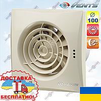 Бесшумный вытяжной вентилятор Вентс 100 Квайт Винтаж (VENTS 100 Quiet Vintage)